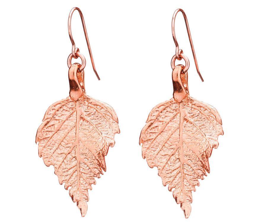 Chupi Print Rose Gold Earrings The Sweetest Thing Raspberry Leaves Tiny