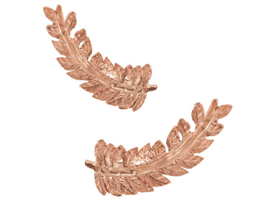 Chupi Print Rose Gold Earrings Crown Of Love Laurels