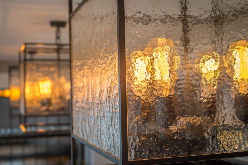The Coburg Brasserie Light Fixture Victorian Glass Detail Shot 2
