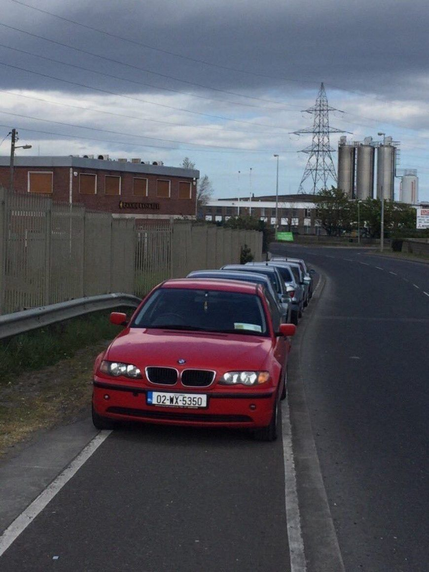 Cars In Cycle Lane