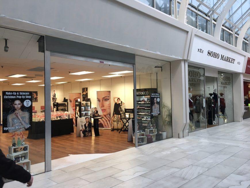 Swan Centre Make Up Pop Up Shop Front