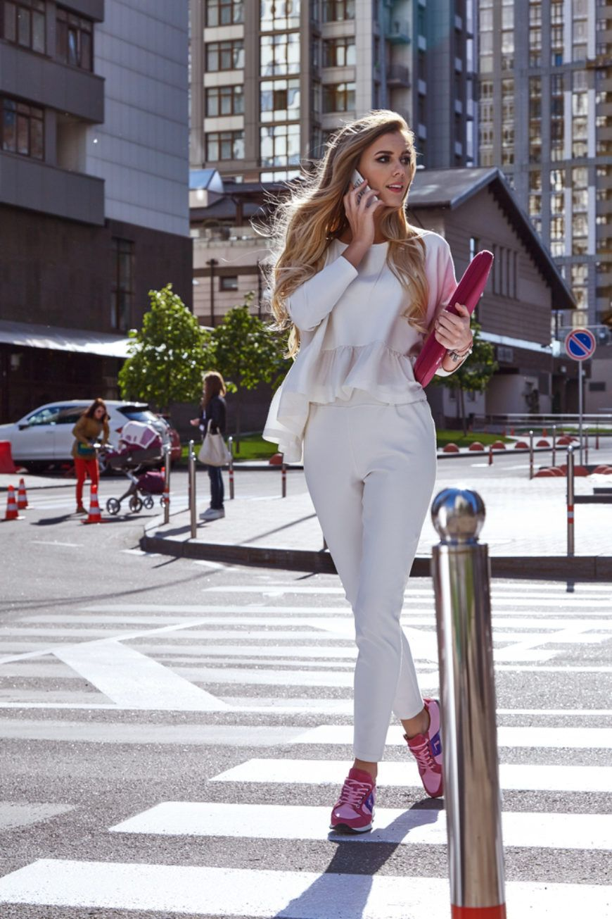 Business Woman In Runners