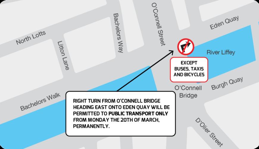 Oconnell Bridge Right Hand Turn Map 1