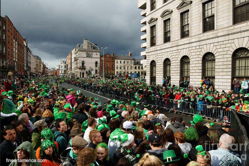 Dame Street Dublin Paddys Day Parade