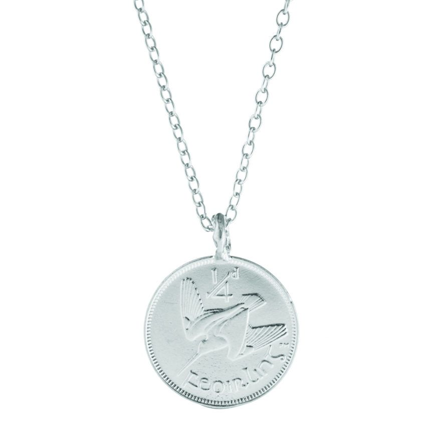 Bestie Worth Your Weight In Gold Farthing Coin Necklace In Silver 1