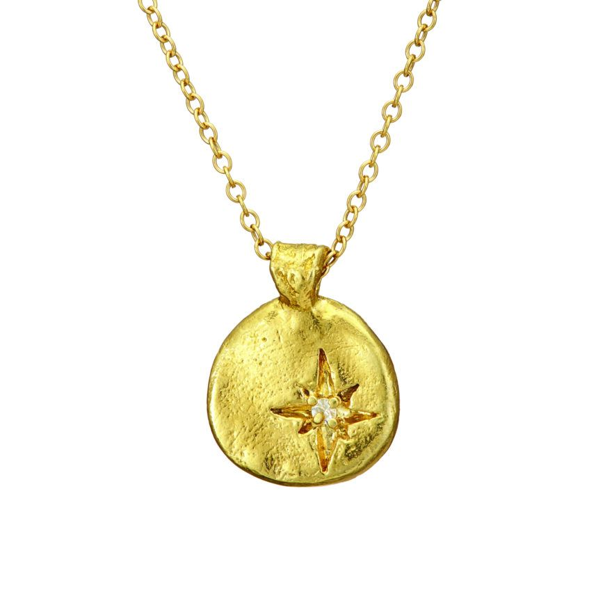 Bestie Your North Star Necklace In Gold