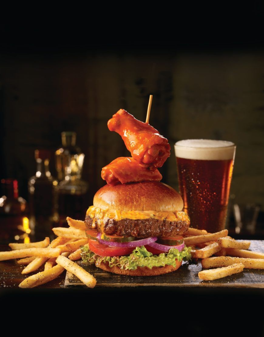 Buffalo Wingman Burger W Wing Topper Test 1116