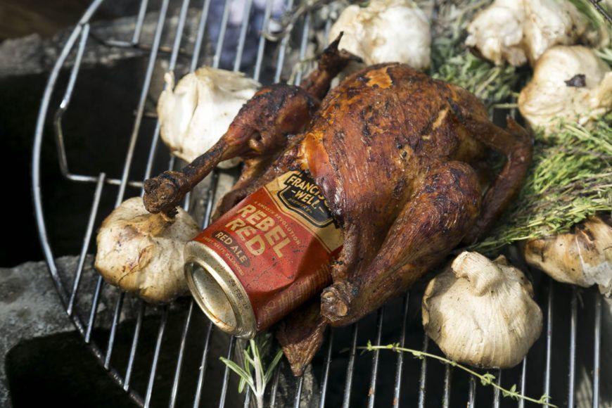 The Big Grill Beer Can Chicken