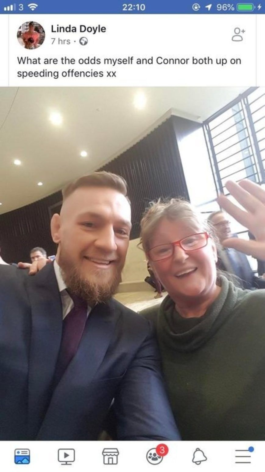 Conor Mc Gregor Court Photo