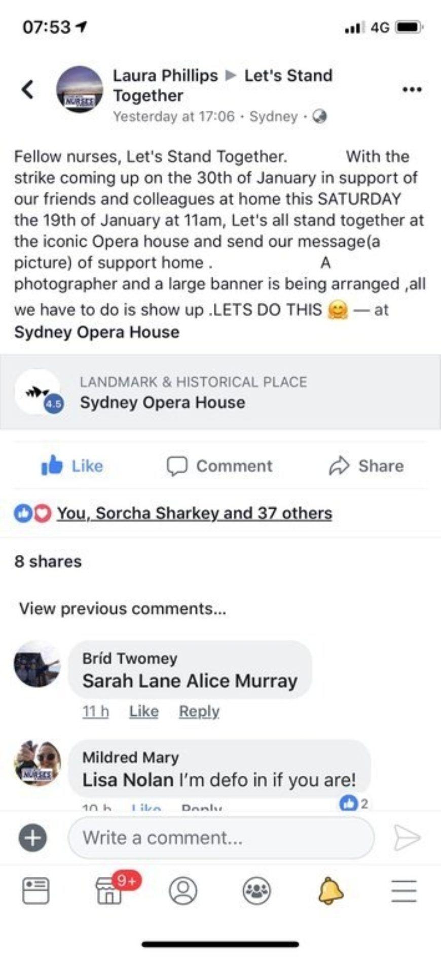 Nurses Australia Strike