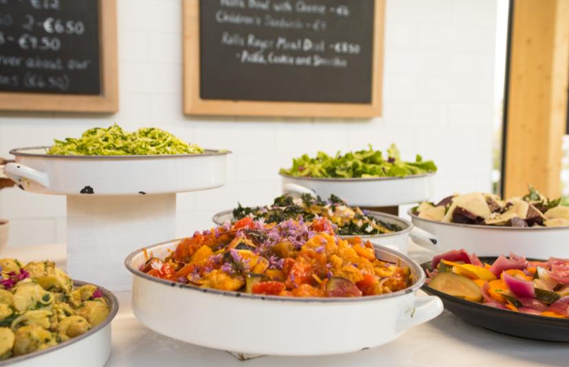 summer salads at Overends Kitchen, Airfield