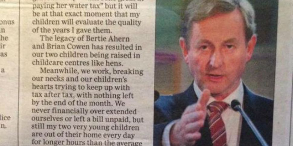 This letter in the Irish Indep...