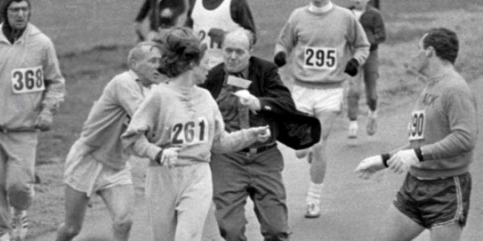 WATCH: The first woman to run...