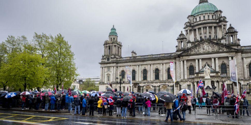 Protest held in Belfast in sup...