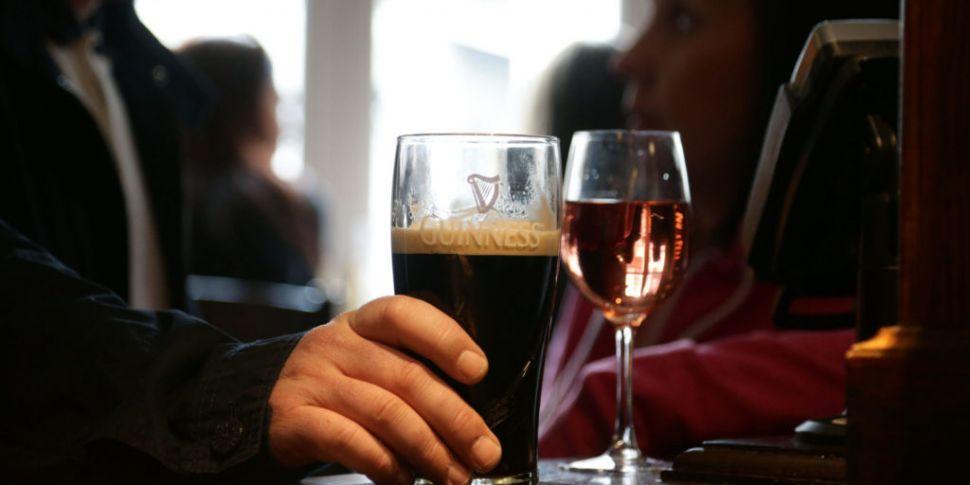 Irish alcohol consumption drop...