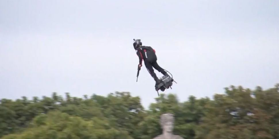 WATCH: Inventor on flyboard st...