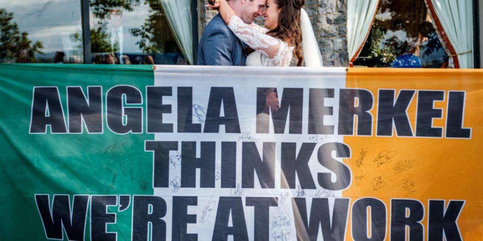 Merkel sends wedding wishes to...