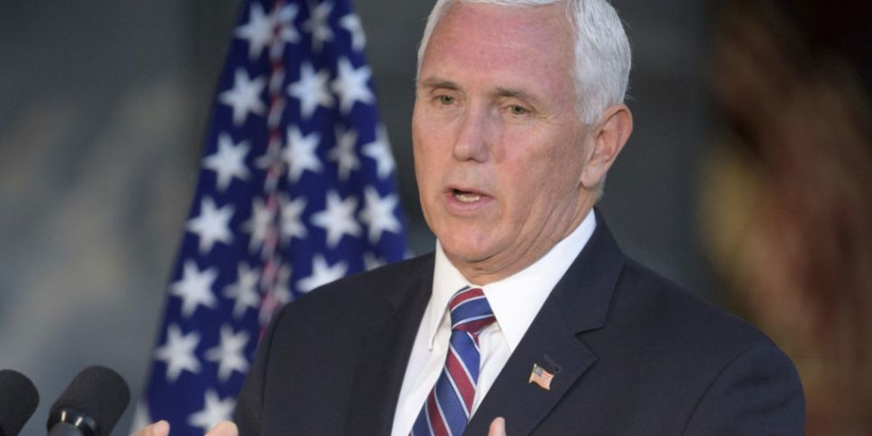 US Vice President Mike Pence t...