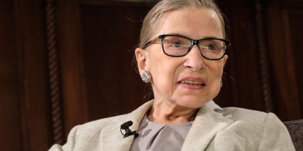 US Justice Ruth Bader Ginsburg...