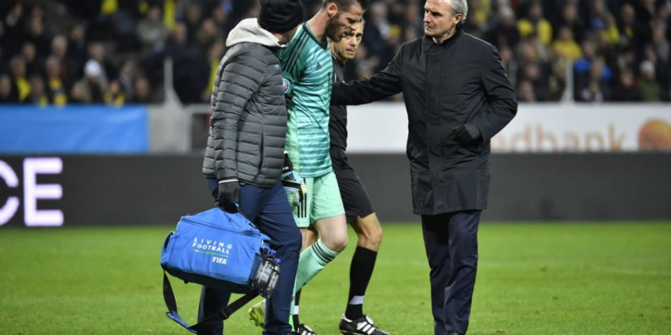 David de Gea an injury doubt f...