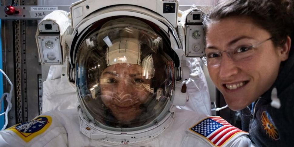 Two women astronauts complete...