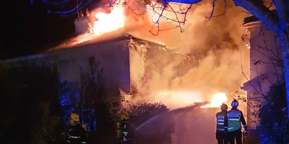 Four houses damaged in large f...