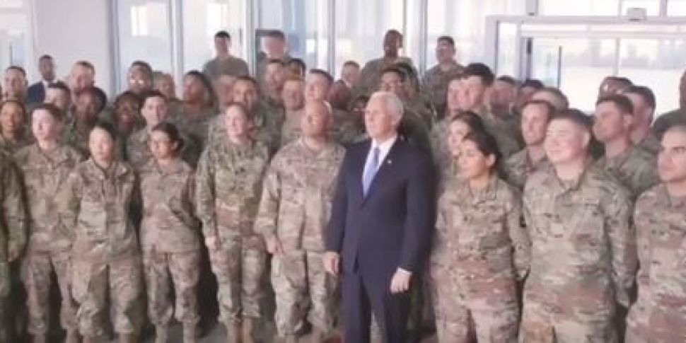 US Vice President Mike Pence m...