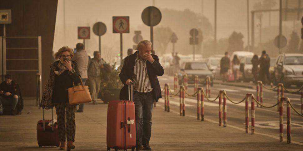 Irish flights affected after S...