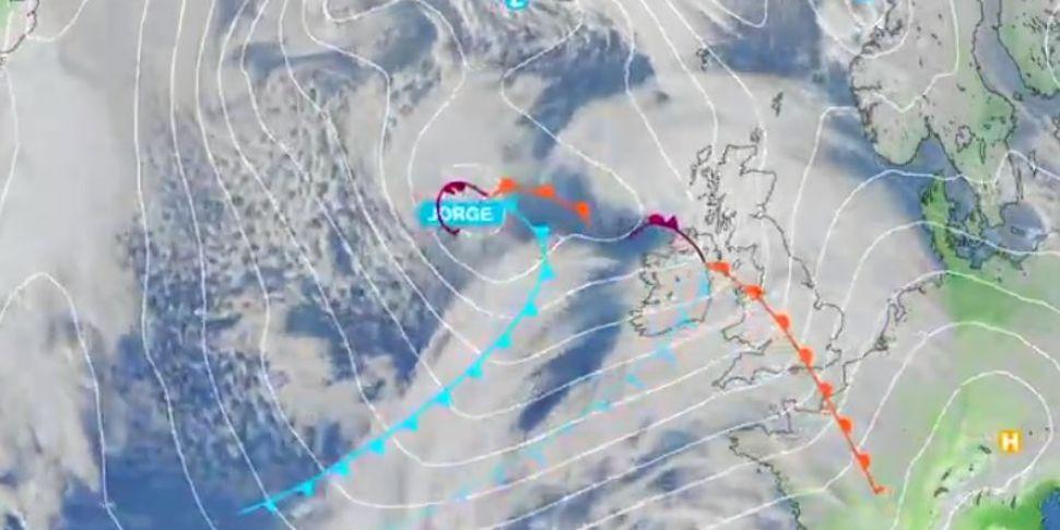 Storm Jorge: Red weather warni...