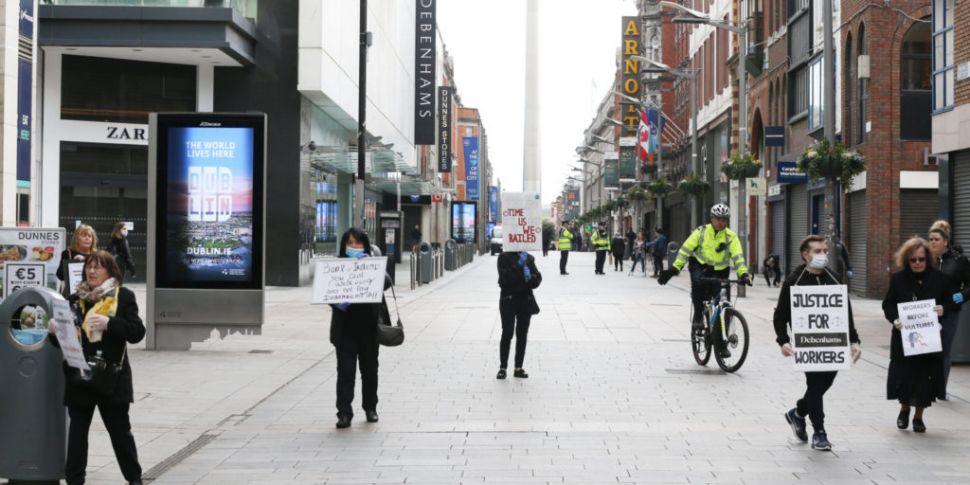 Gardaí break up Dublin demonst...
