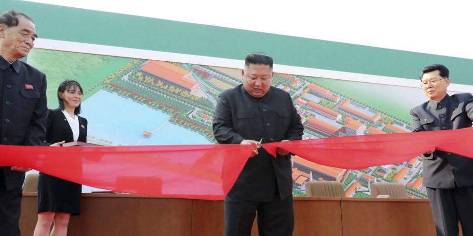 North Korea's Kim Jong Un seen...