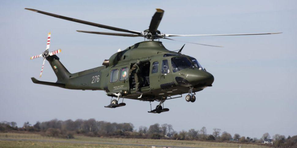 Helicopter door hit building b...