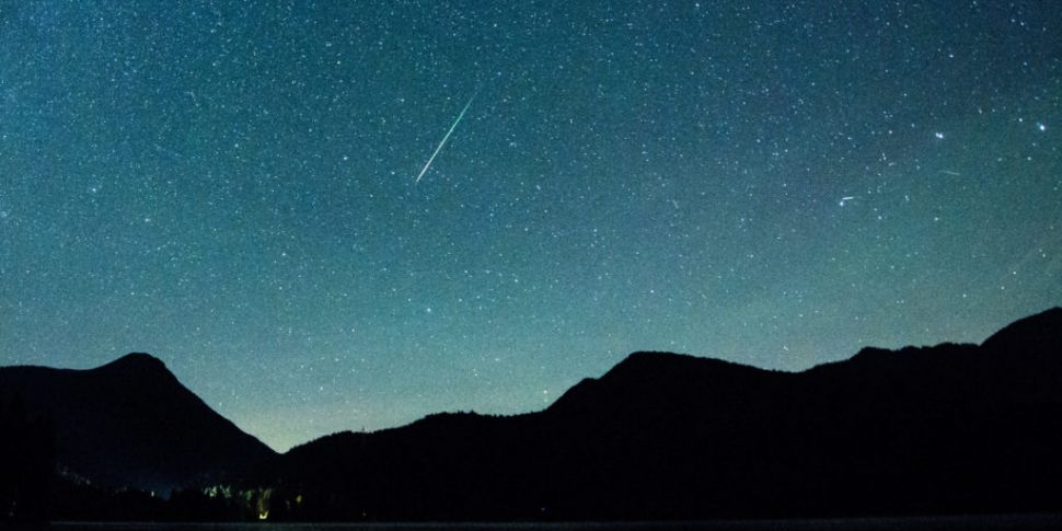 Perseid meteor shower visible...