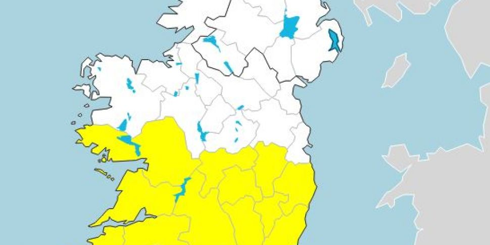 Rainfall warning issued for 14...