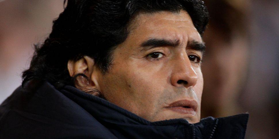 Maradona walking, talking and...