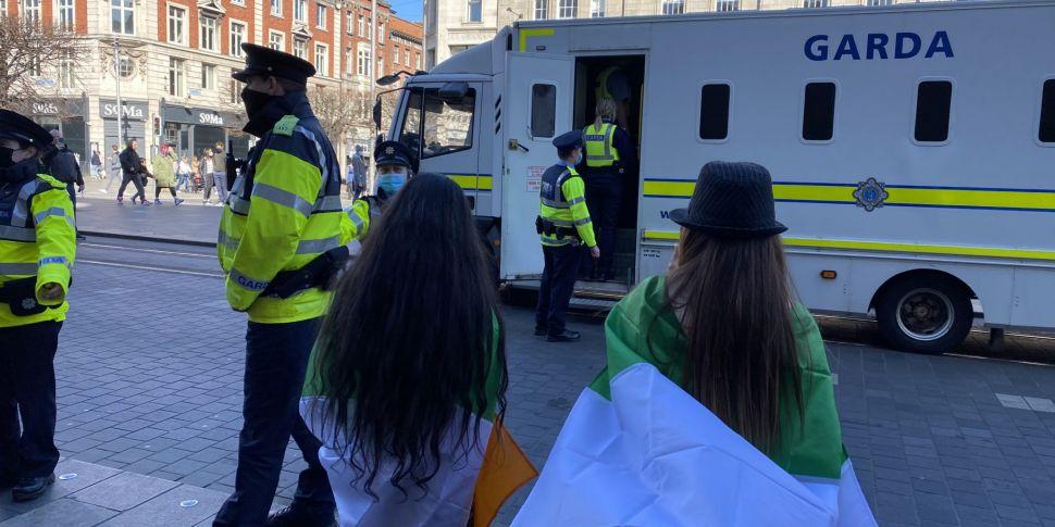Arrests at anti lockdown Dubli...
