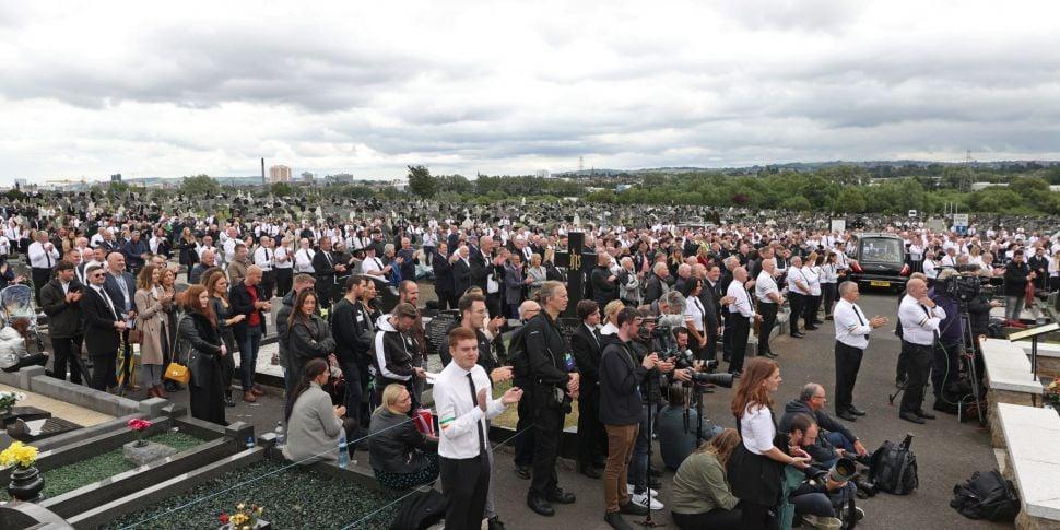 Bobby Storey funeral: No prose...