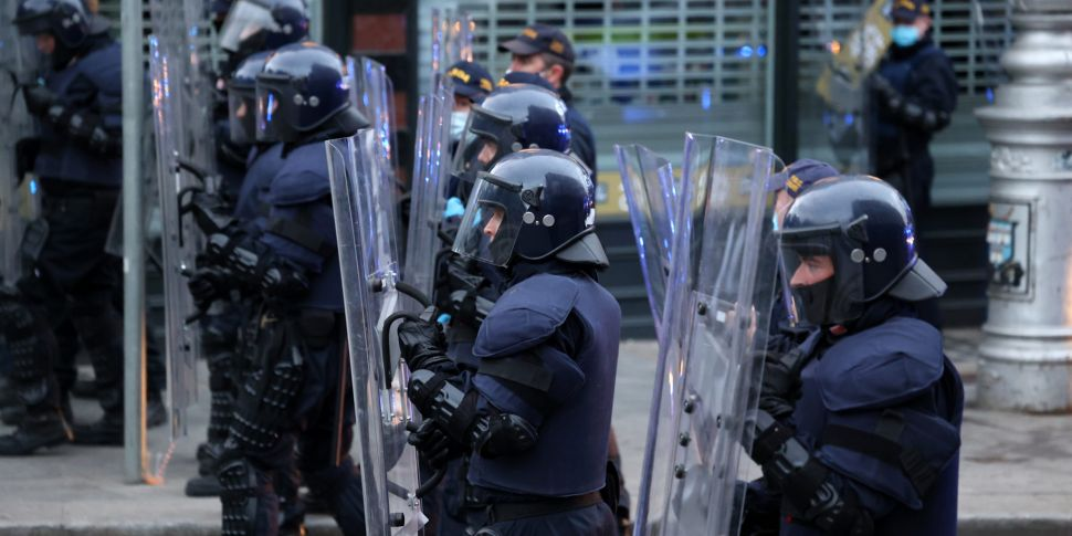 Gardaí say use of riot shields...