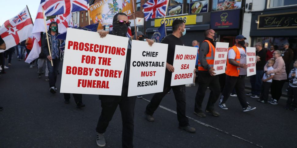 Protesters gather in Co Down t...