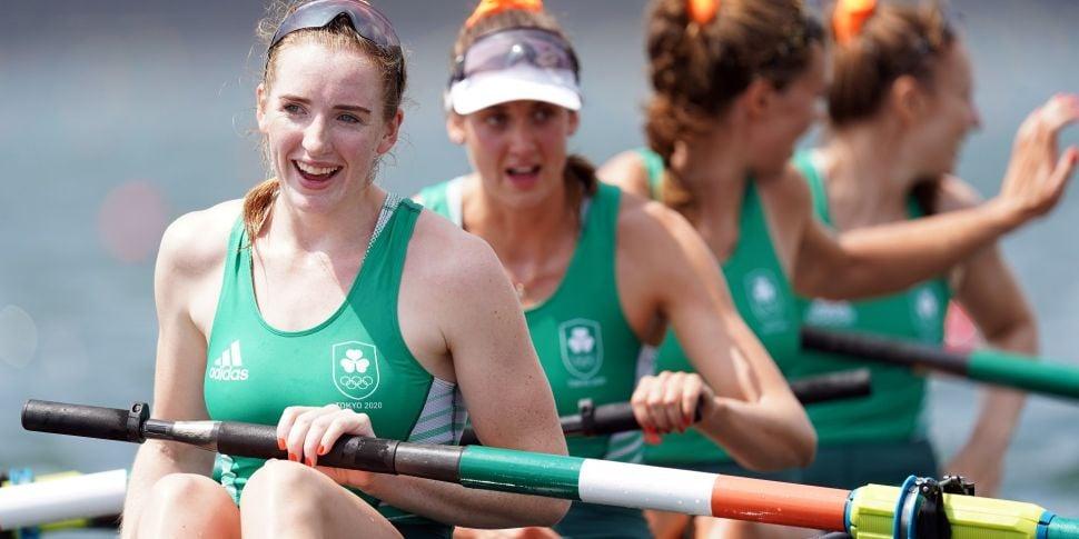 Women's four rowing team takes...