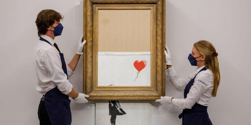 Shredded Banksy artwork sells...