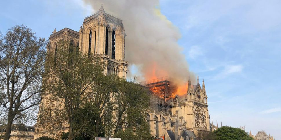 Fire breaks out at Notre Dame...