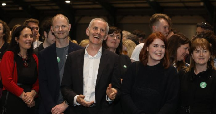 Green tea on ice for the night after Cuffe tops poll in Dublin