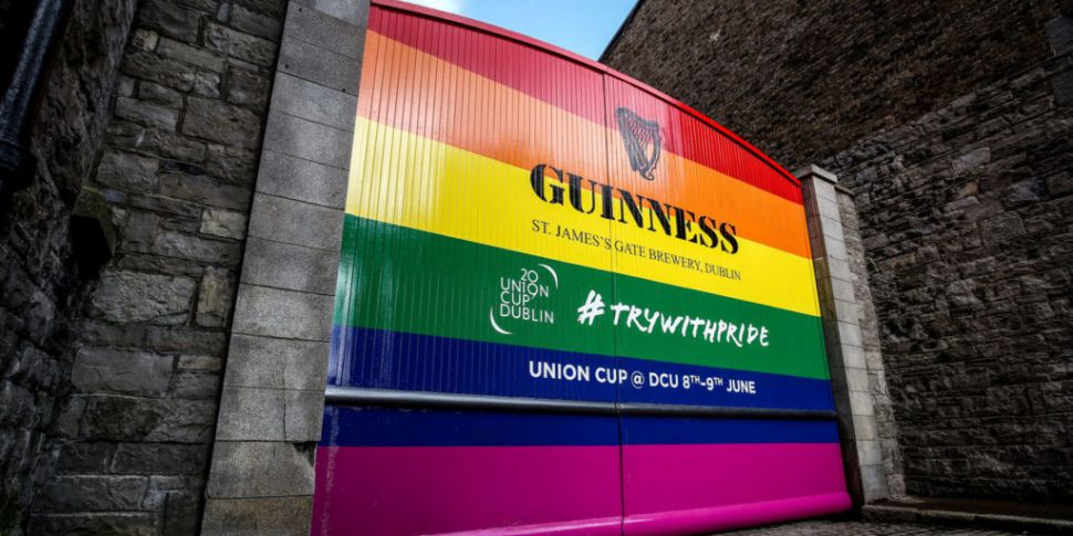 Famous Guinness gates go rainb...