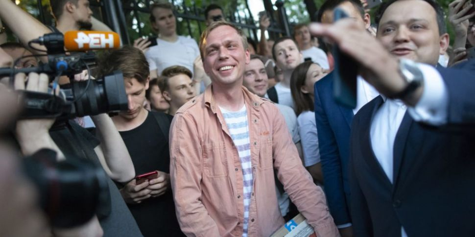 Russian journalist freed after...