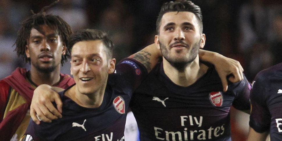 Mesut Ozil and Sead Kolasinac...