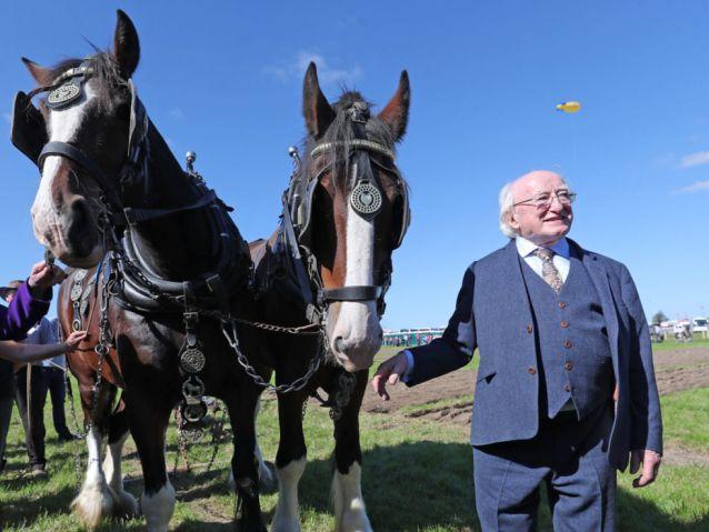 President Higgins says farmers...