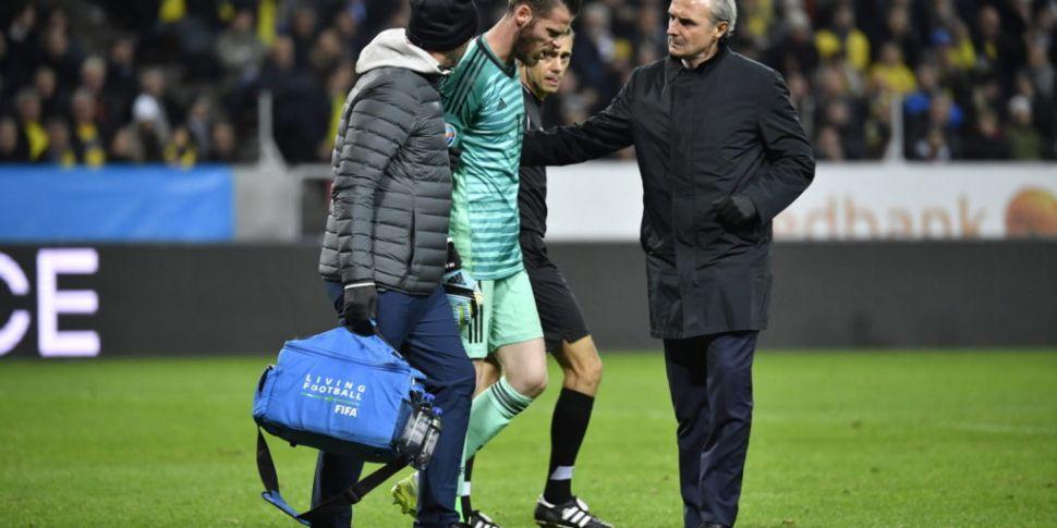 David de Gea an injury doubt f...