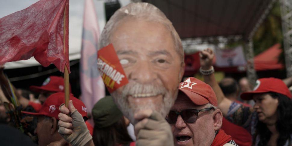 Former Brazilian president Lul...