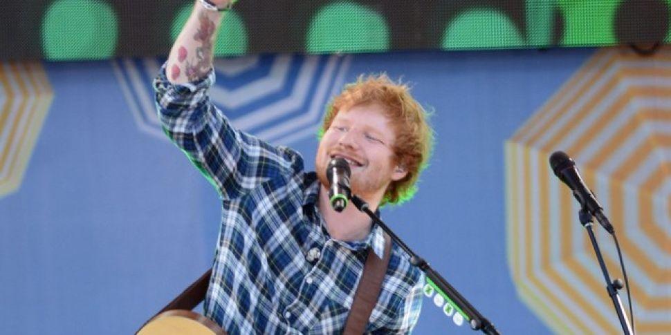 Ed Sheeran performs on GMA
